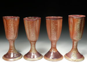 Woodfire Slip Trailed Goblets