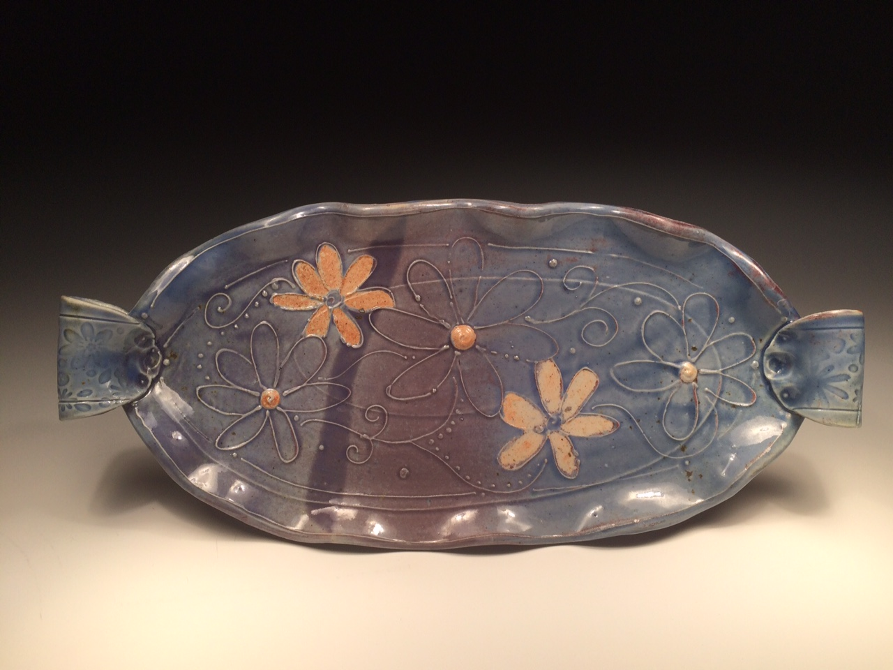 Woodfired Tray with Flowers